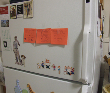 Love notes on the fridge
